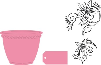 Collectables Marianne Design - Flowerpot