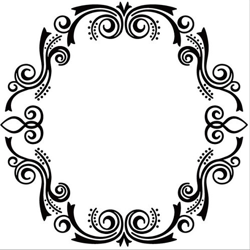 Nellie Snellen Embossing Folder - Oval Frame 2