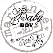 Clearstamp Marianne Design - Baby Boy