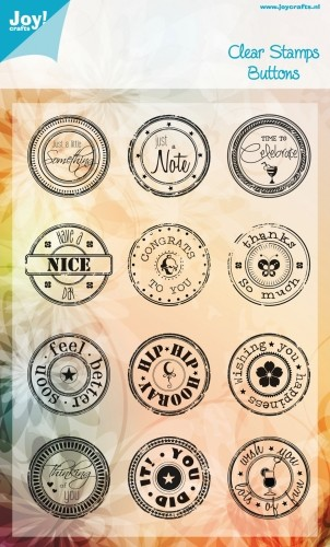 Joy Clearstamps - Buttons Engels