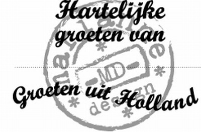 Clearstamps Marianne Design - Groeten uit Holland
