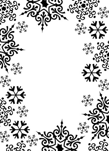 Darice Embossing Folder - Snowflake Trim