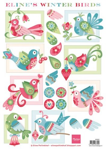 Knipvel Eline`s Winter Birds (Marianne Design)