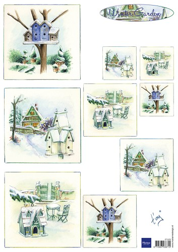 Knipvel Marianne Design - Tiny`s Winter Garden 1