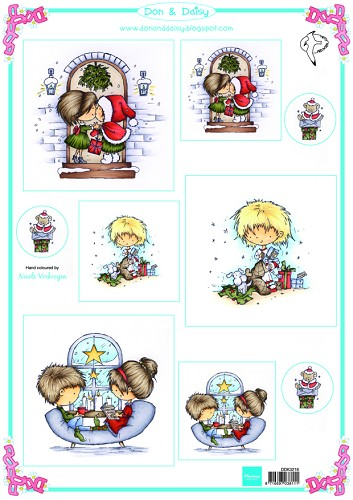 Knipvel Marianne Design - Don & Daisy Cardtoppers