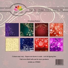 Dixi Craft Paper Pad - Christmas Pattern