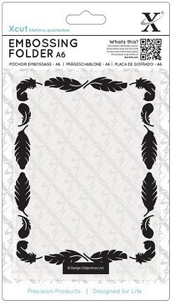 Xcut Embossing Folder - Feathers Frame