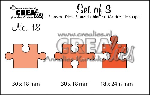 Crealies Stans - Set of 3 - no. 18