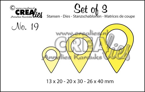 Crealies Stans - Set of 3 - no. 19