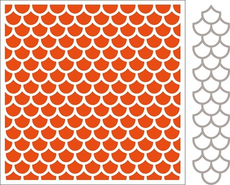 Marianne Design Embossing Folder en Die - Scales