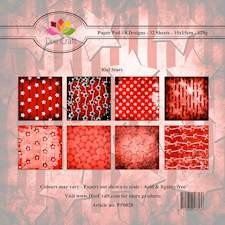 Dixi Craft Paper Pad - Red Stars