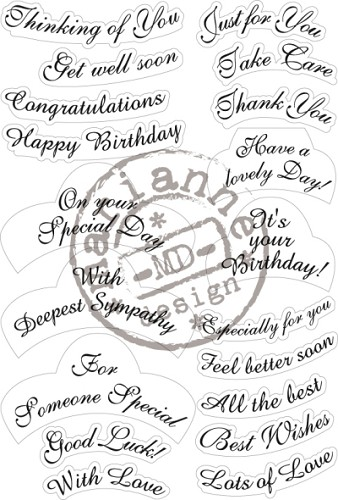 Marianne Design Clearstamps - best wishes
