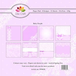 Dixi Craft Paper Pad - Baby Purple