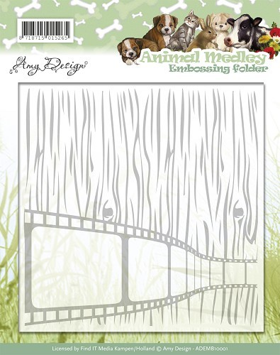 Amy Design Embossing Folder - Animal Medley
