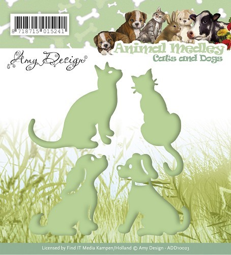Amy Design stans - Animal Medley - cats and dogs