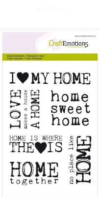 Craft Emotions Clearstamps - Background Home Sweet Home
