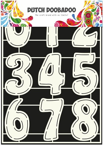 Dutch Doobadoo Stencil Art A4 - numbers