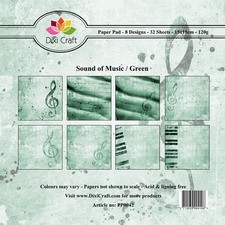 Dixi Craft Paper Pad - Sound of Music / Green
