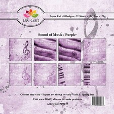 Dixi Craft Paper Pad - Sound of Music / Purple