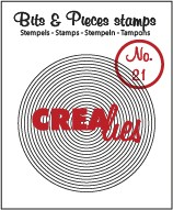 Crealies Clearstamp - Bits & Pieces 21