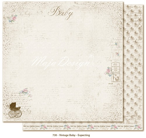 Scrappapier Maja Design - Vintage Baby - Expecting