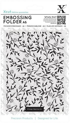 Xcut Embossing Folder - Foliage Pattern