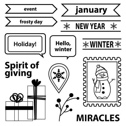 Scrapberry`s Clearstamps - Happy Holidays SCB4906004b
