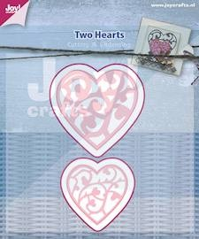 Joy Stencil - Two Hearts
