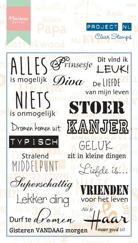 Marianne Design Project NL - Clearstamps - individu