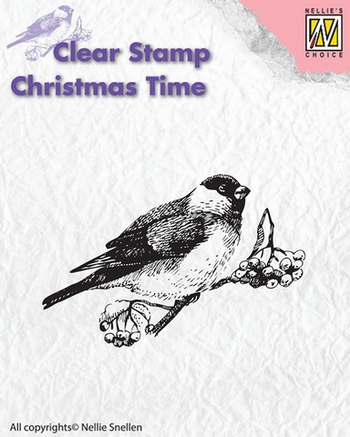 Nellie Snellen Clearstamp - Christmas Time - bird