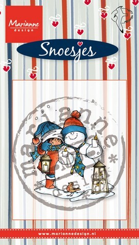 Clearstamp Snoesjes - snowman