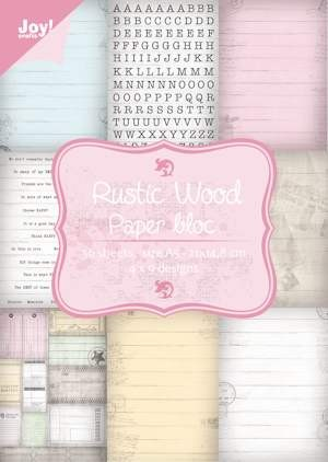 Joy Paper Bloc - Rustic Wood