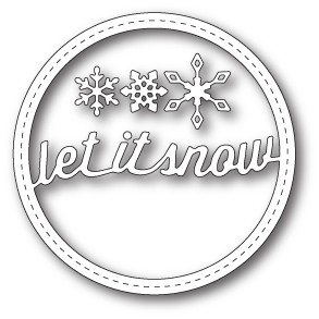 Memorybox Stans - Stitched Let it Snow Circle Frame