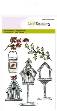 Craft Emotions Clearstamps - birdhouses