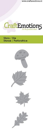Craft Emotions Stans - leaves / mushroom