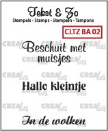 Crealies Clearstamp - Tekst & Zo BA02