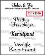 Crealies Clearstamp - Tekst & Zo K06