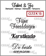 Crealies Clearstamp - Tekst & Zo K15