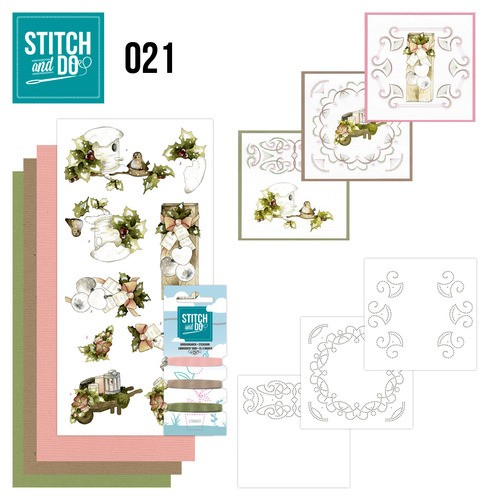 Stitch and Do Pakket - Rustieke Kerst