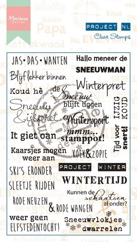Marianne Design Clearstamps - Project NL - winter