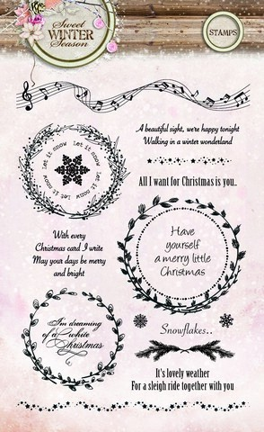 Studio Light Clearstamps - Sweet Winter Season STAMPSWS123