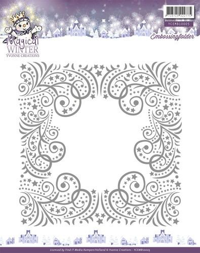 Yvonne Creations Embossing Folder - Magical Winter