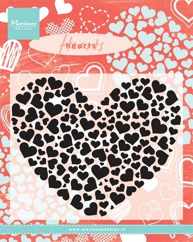 Clearstamps Marianne Design - Heart XL