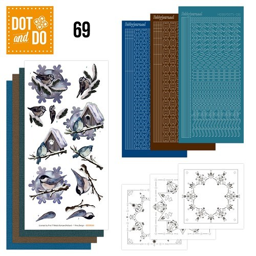 Dot & Do Hobbydots Pakket - Winter Birds