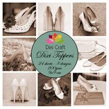 Dixi Craft Toppers Set - women shoes sepia