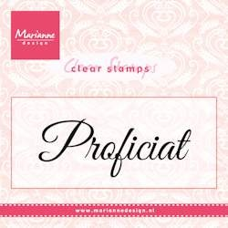Marianne Design Clearstamp - Proficiat