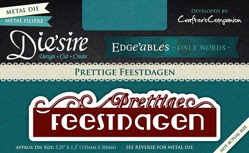 Die`sire Edge`ables Only Words - Prettige Feestdagen