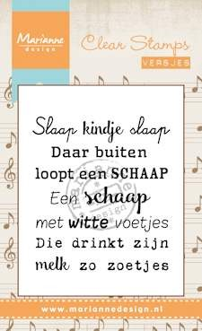 Clearstamp Marianne Design - Slaap Kindje Slaap
