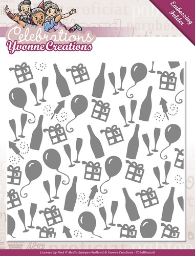 Yvonne Creations Embossing Folder - Celebrations