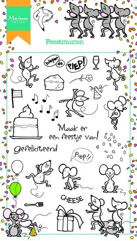 Clearstamps Marianne Design - Feestmuizen